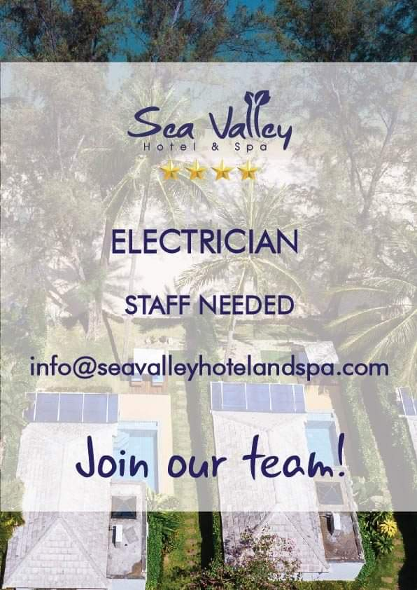 Receptionist and Electrician staff needed