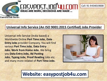 Best ONLINE jobs vacancy for 10+ to Graduation Pass Candidates.