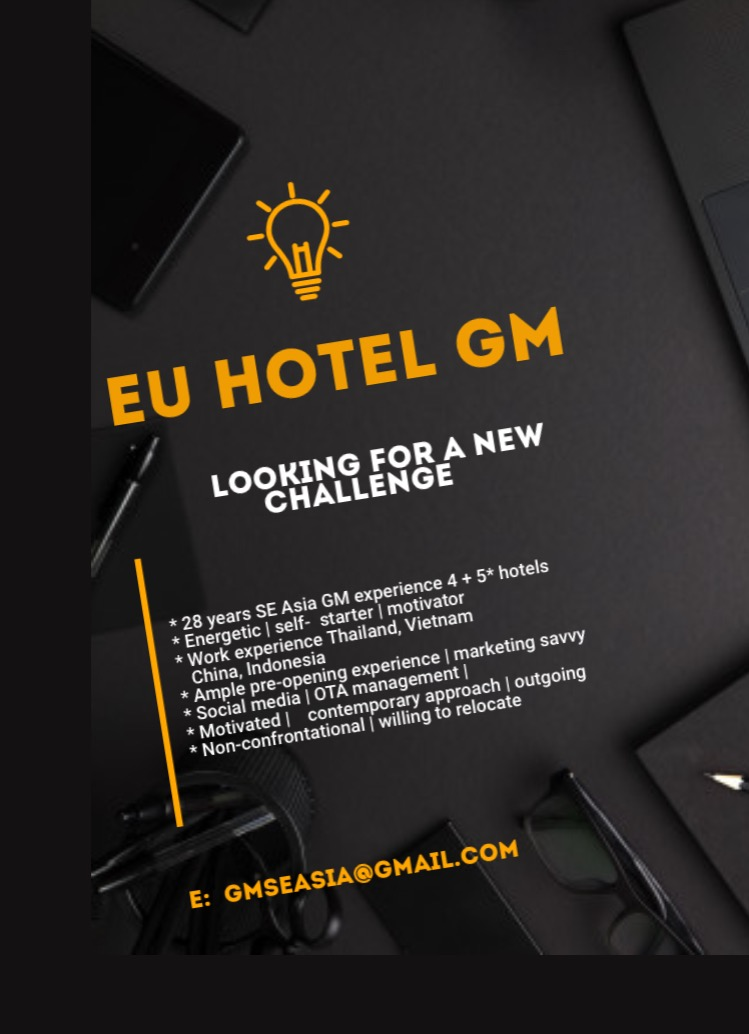 4* Hotel/resort GM seeks new opportunity