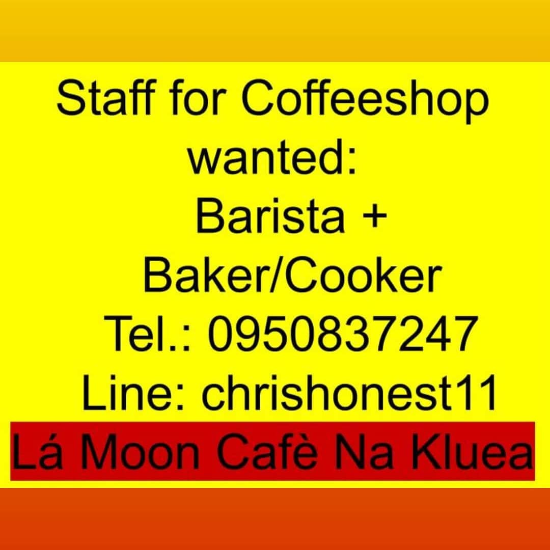 Barista / Baker for  Coffe Shop in Na Kluea