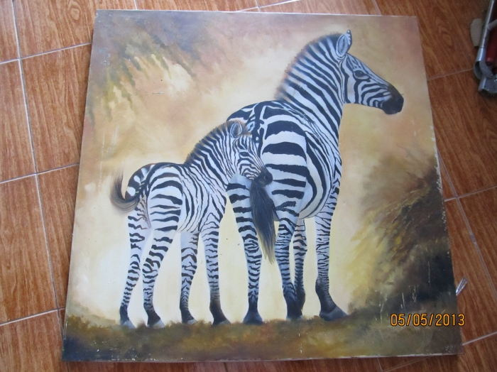 Hand Painted Oil Canvas Size 3 Feet 5 Feet