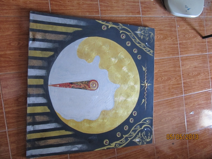Hand Painted Oil Paintings STONE ART ANCIENT ART LAMP PRETTY