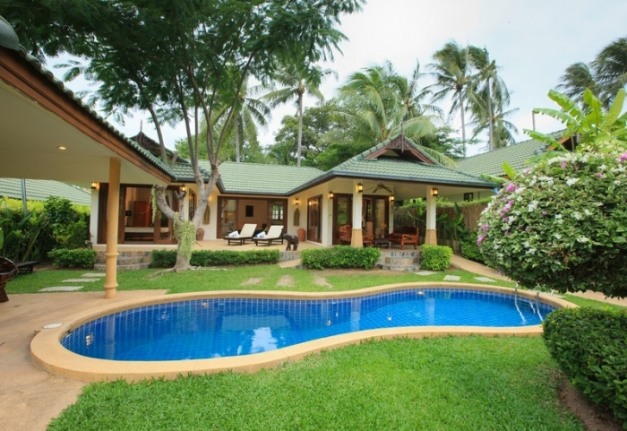 Villa 3 Bedroom Private Pool In Front Of Choeng Mon Beach