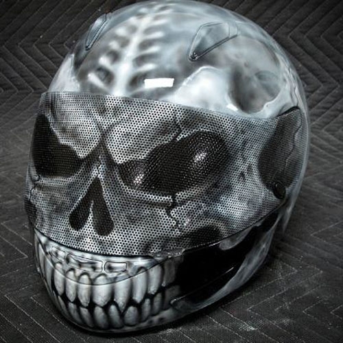 Custom Paint Airbrush DOT, ECE, Aust. Approved Crash Helmet