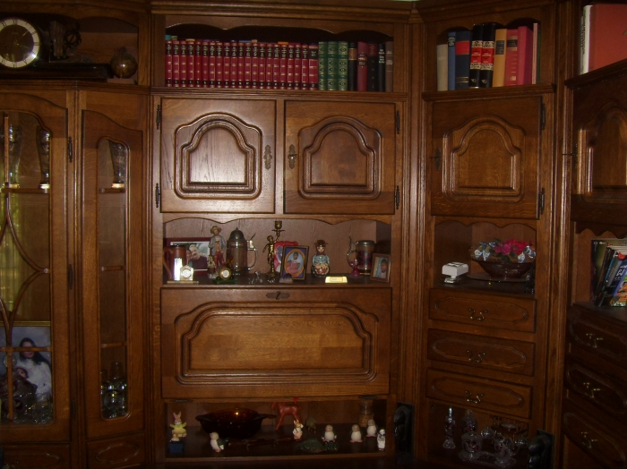 Oak Living Room Cabinet, Imported