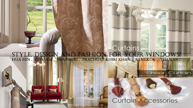 Curtains , Sheers, Blinds, Interior Design Solutions Hua Hin