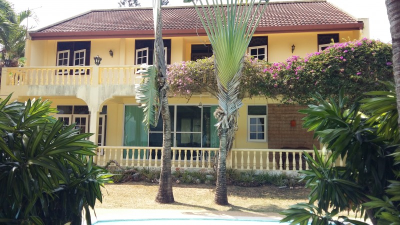 A Thai style two storey beach front villa for sale