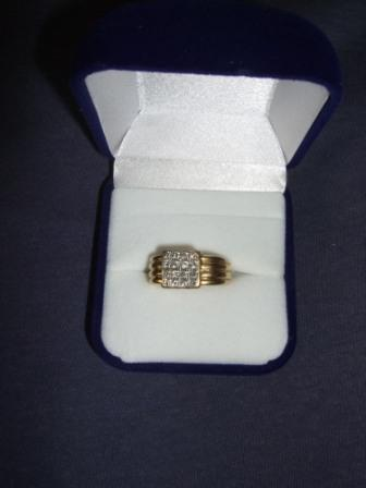 Mens Diamond Pinky Ring 18k Solid Yellow Gold Rings