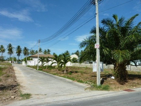 Square plot of land for sale.