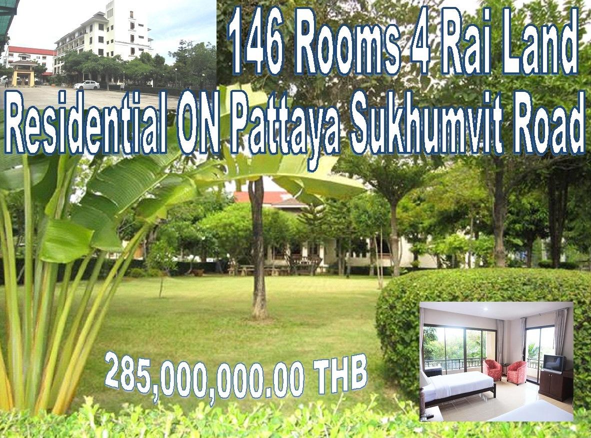 Pattaya 146 Room Road front Hotel Sale