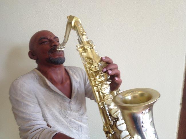 Saxophone Player Statue 58cm lifelike