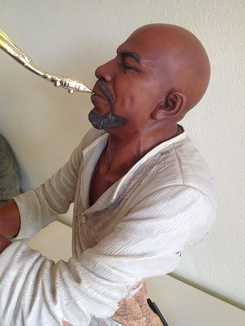 Saxophone Player Statue 58cm lifelike