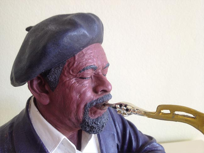 Saxophone Player Statue 38cm lifelike