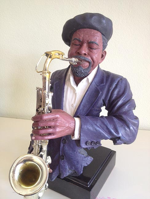 Saxophone Player Statue 38cm lifelike