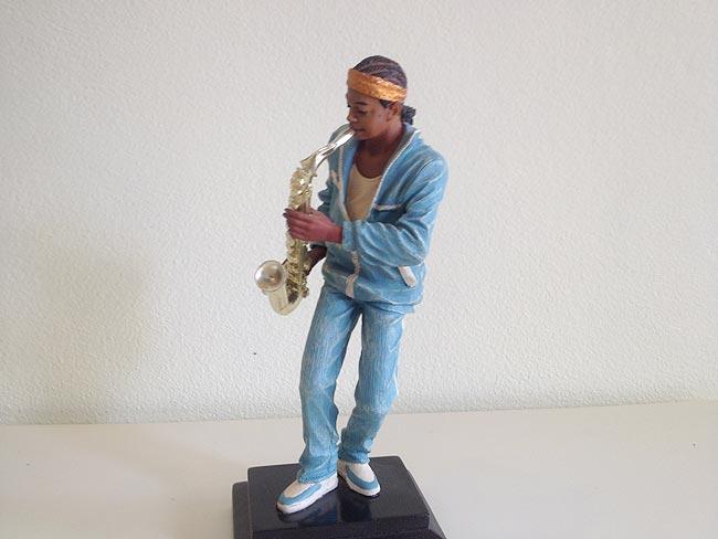 Saxophone Player Statue 28cm lifelike