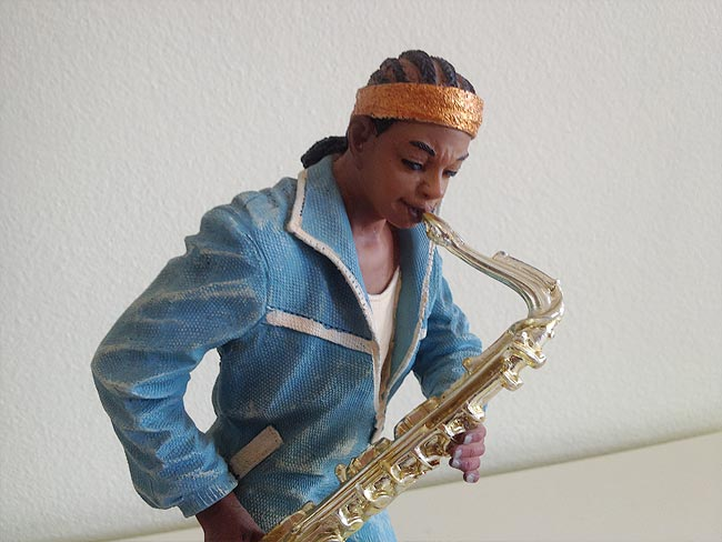 Saxophone Player Statue 28cm lifelike