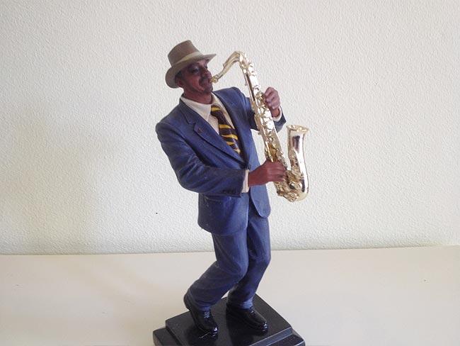 Saxophone Player Statue 29cm lifelike