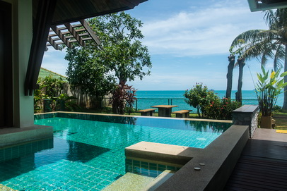 Rental 2 bedroom private pool villa on beachfront Maenam