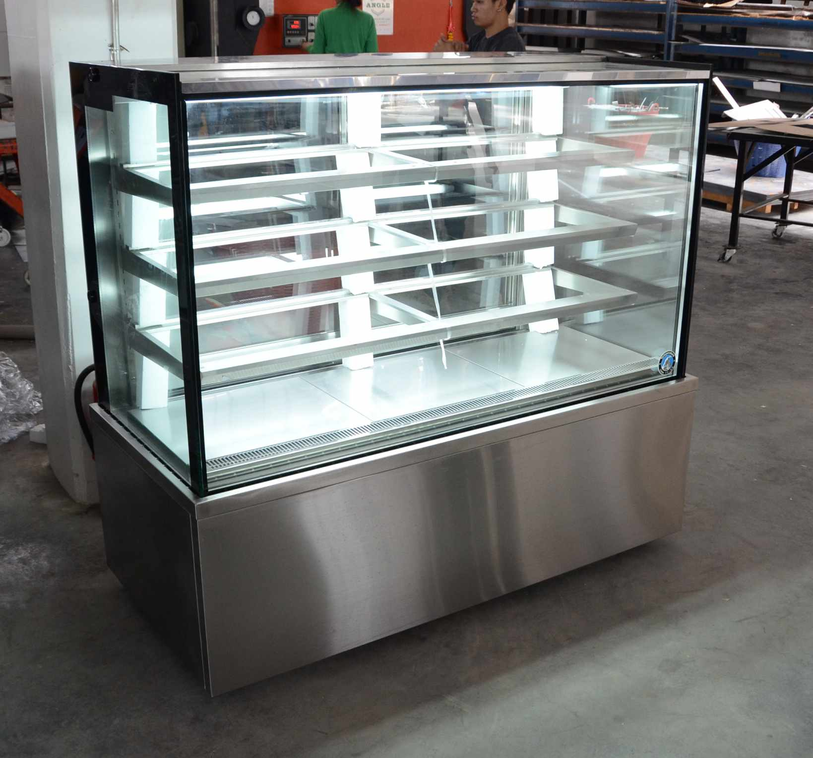 Stainless Refrigerated Square Shape Cake Display (New)