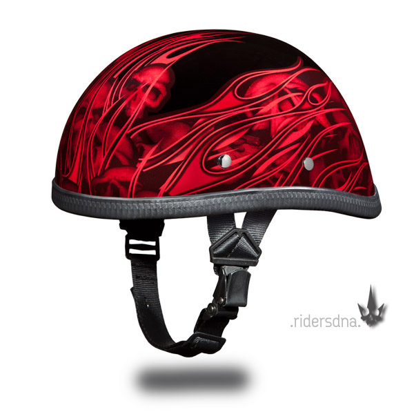 3/4 Vintage, Half Skull Cap Harley, German, Chopper Helmet