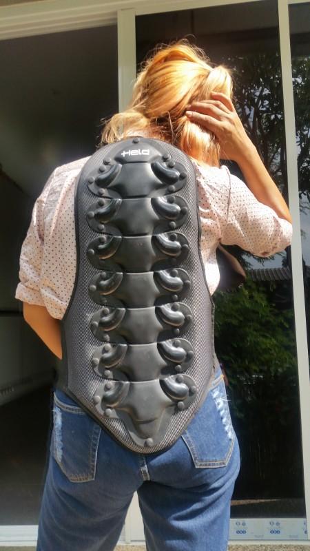 Motorcycle back protector, brand 'Held'