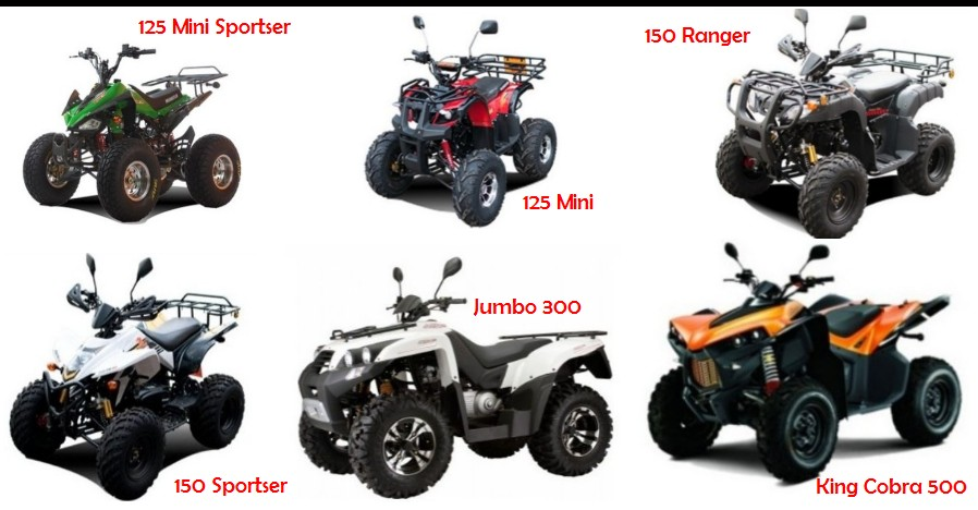 Thai-ATV-Sales many different styles of ATV / UTV