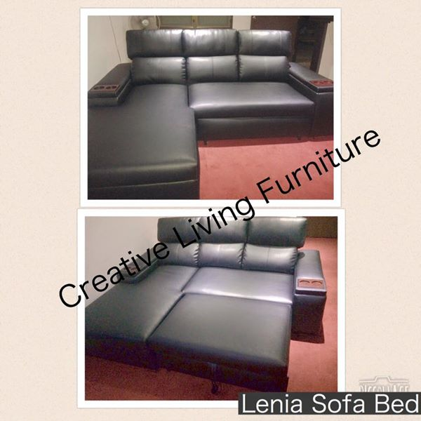Lenia Corner Sofabed Faux Leather