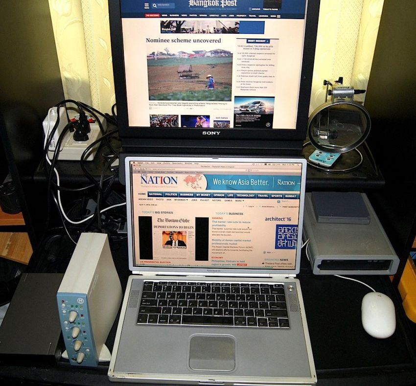 Apple Powerbook G4+Dual Monitor+ProTools+Firewire Drive