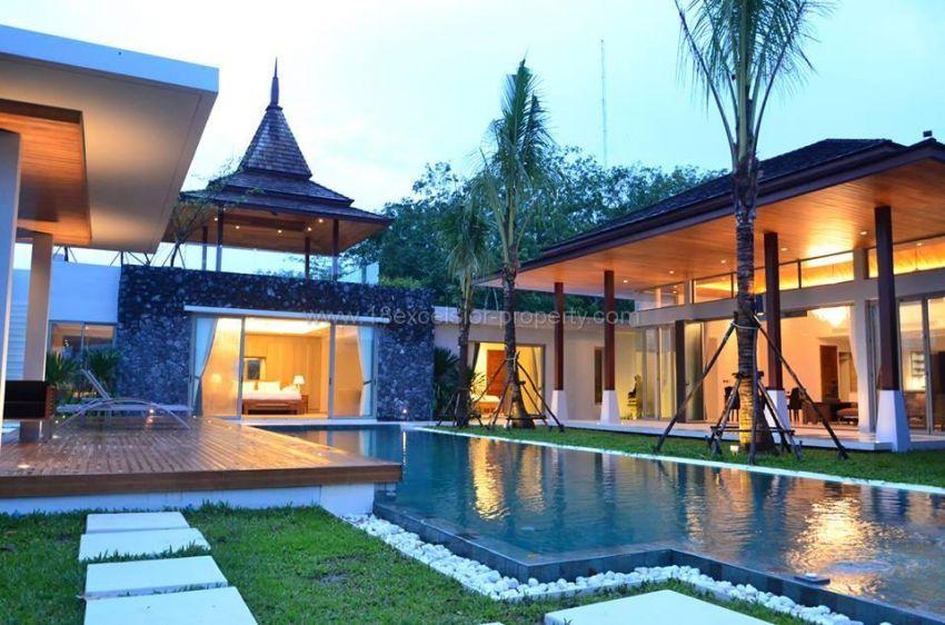 Brand new 4 bedrooms pool villa at Layan ( Near beaches )