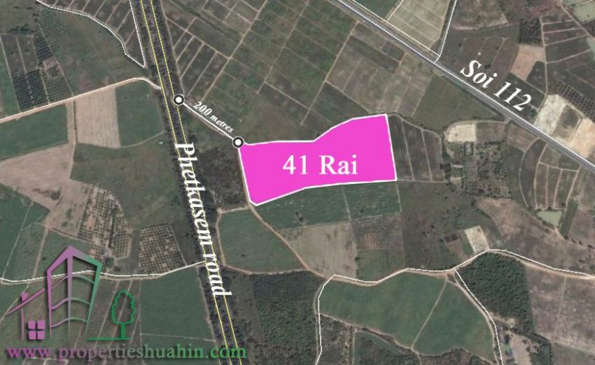 Land for sale with lake 41 rai Hua hin (by pass)