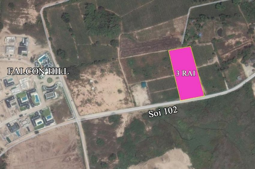 Land for sale 3 rai soi 102 Hua hin