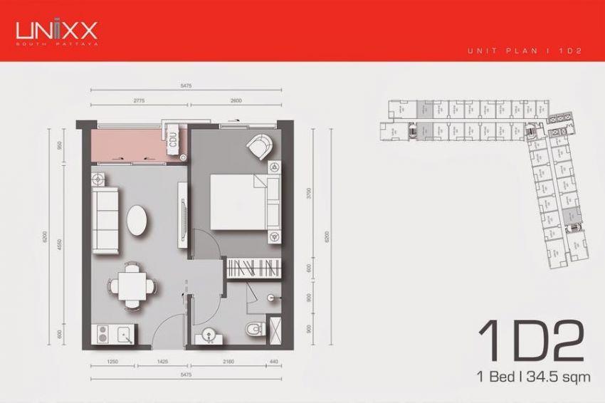 New, Modern, Unixx 1 Bedroom Rental