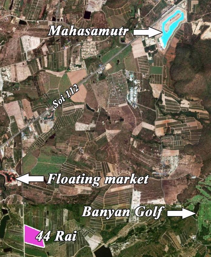 Land for sale 44 rai soi 112 Hua hin