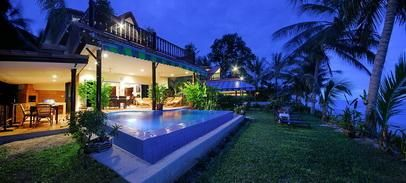For rent villa in Bang Por Koh Samui 3 bedrooms beachfront