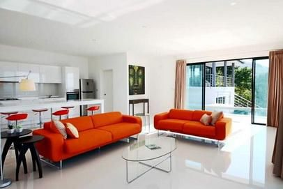 For rent 4 bedroom pool villa sea view Bophut Koh Samui