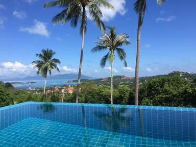 For rent 3 bedroom pool villa sea view Plai Laem Koh Samui