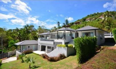 For sale Bophut Koh Samui villa 4/5 bedrooms sea view pool