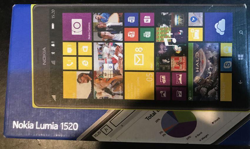 Nokia Lumia 1520 Win10 32GB Black Smartphone