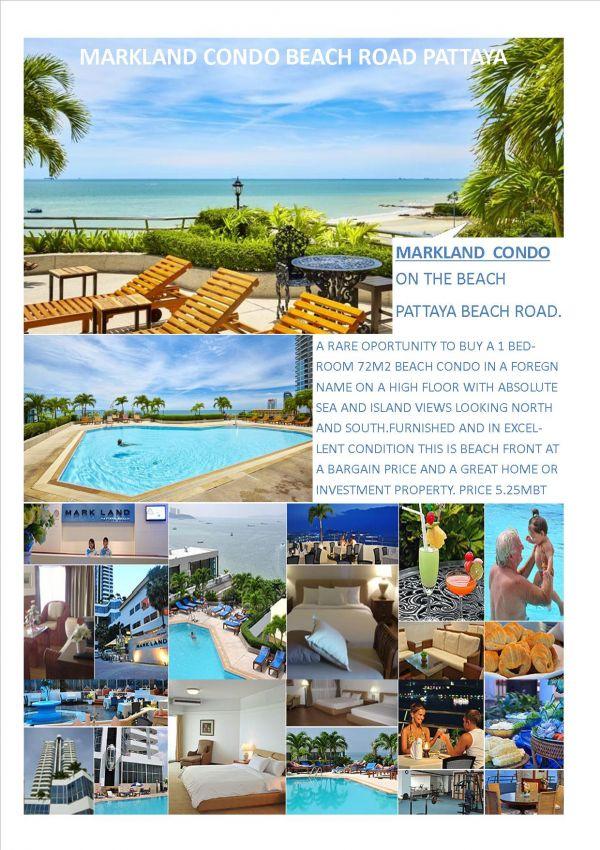 Markland Pattaya Beach Rd Condo