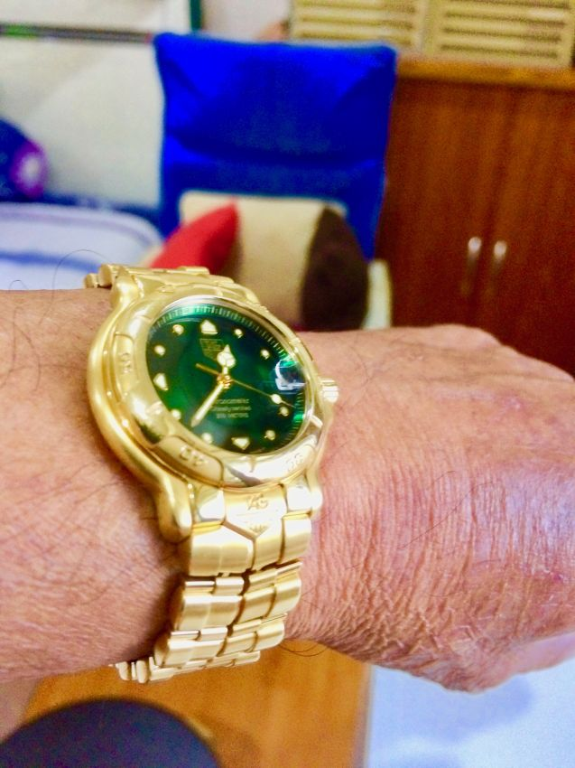 Rare 6000 series Tag Huer 18K Solid Gold Automatic Watch