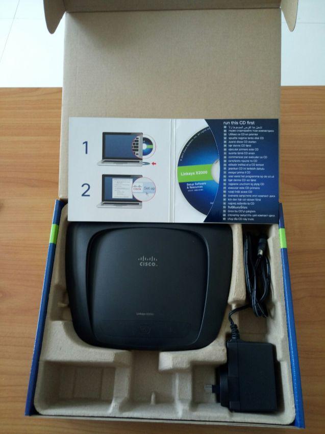 Linksys X2000 Wireless-N Router with ADSL2+ Modem CISCO