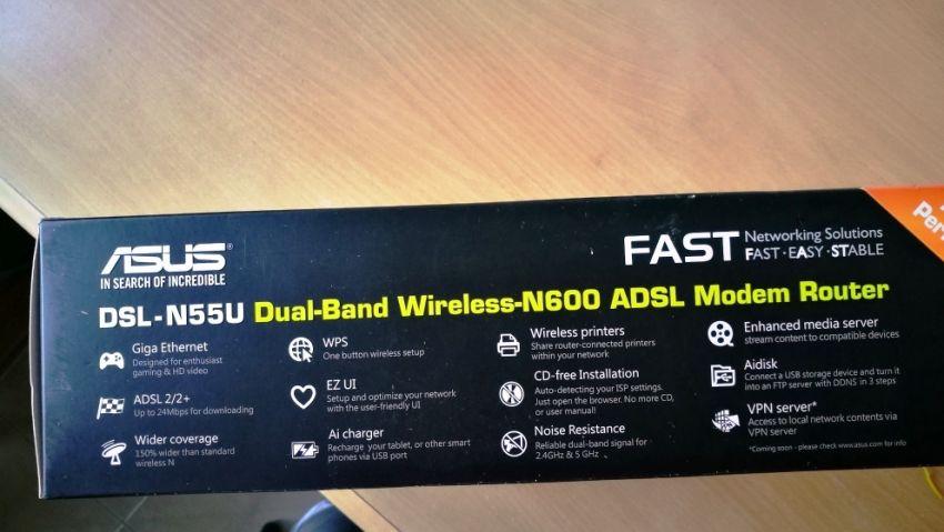 Asus Modem Router DSL-N55U Dual-Band WiFi-N600 Gigabit ADSL