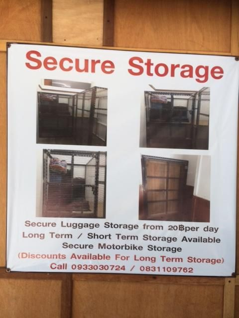 Storage for m/cycle, luggage etc