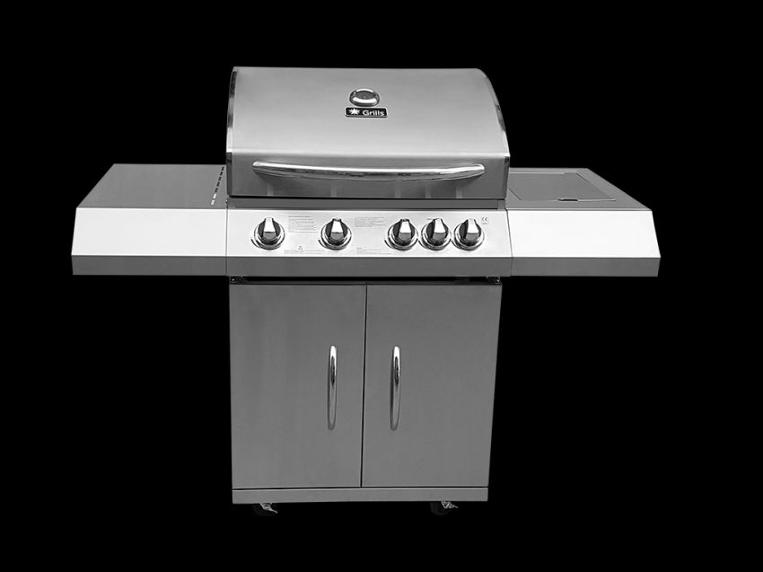 New 4 Burner barbecue stainles steel BBQ