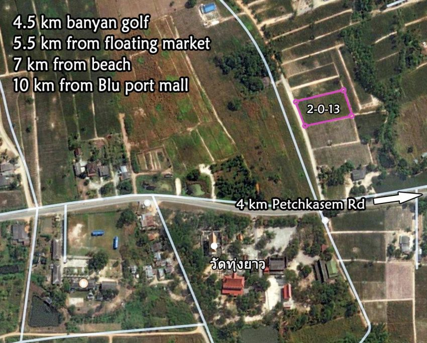 Land for sale 2 rai soi 112 Hua hin