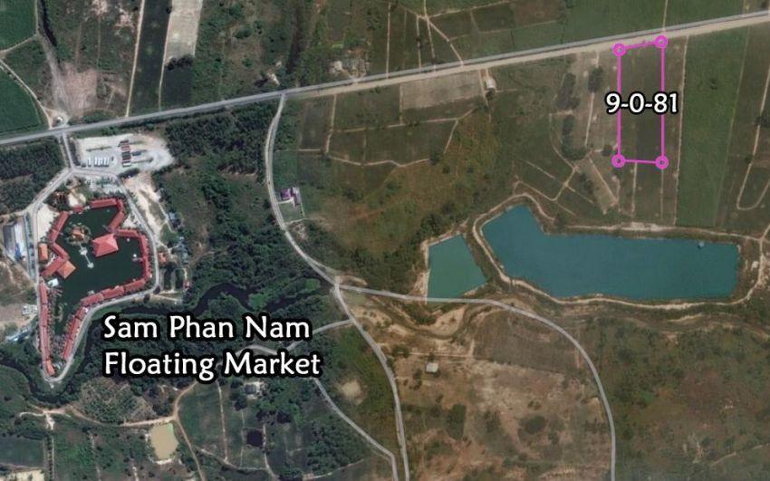 Land for sale 9 rai Sam Phan Nam market