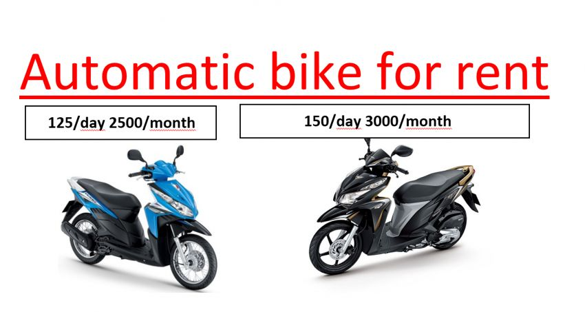 Automatic Motorbike To Rent 2000-2500 Per Month