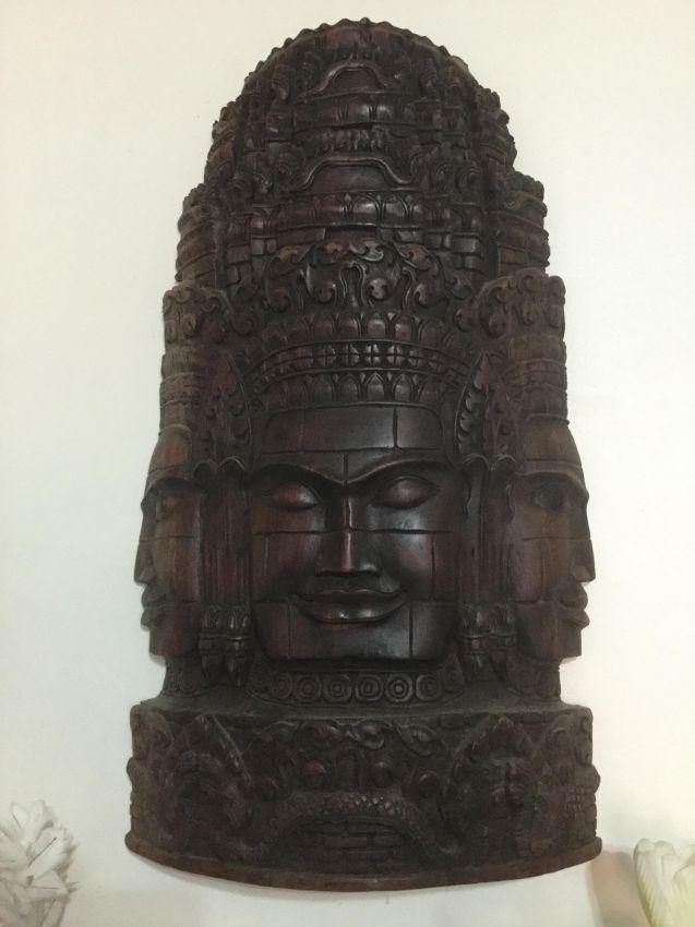 Solid mahogany carved at Ankar wat