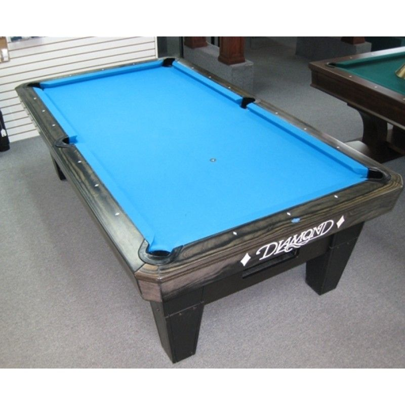 Diamond Pool Table 7, 8, 9ft Black / Rosewood finishing, PRC top rails