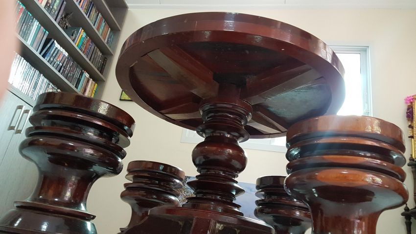 Dinner Table And Stools made from rosa / ironwood